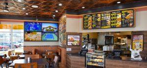 inside a Golden Chick franchise location
